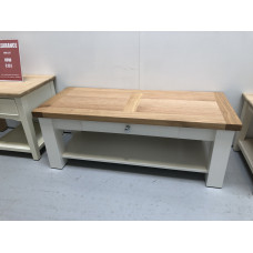 Bretagne Oak Coffee Table with Drawer