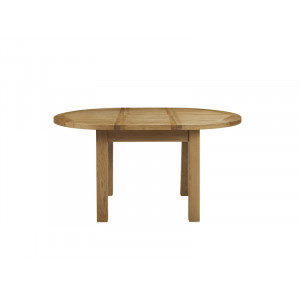 Bretagne Oak 1.1 Mtr Round Extending Dining Table
