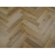 Harbour Engineered Wood Flooring Parquet/Herringbone Character Oak Smoked White Oiled