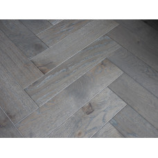 Harbour Engineered Wood Flooring Parquet/Herringbone Character Oak Coastal Grey Oiled
