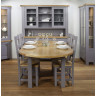 Bretagne Oak 1.76 Mtr Oval Extending Dining Table