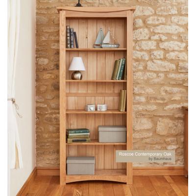 Roscoe Contemporary Oak Large Bookcase
