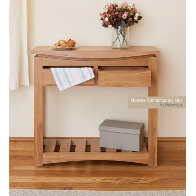 Roscoe Contemporary Oak Console Table