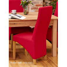Oak Full Back Upholstered Dining Chair - Berry (Pack of Two)