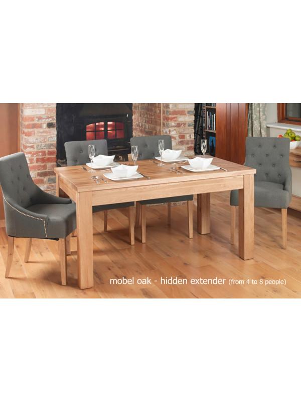 Mobel Hidden Extending Oak Dining Table (Seats 4-8)