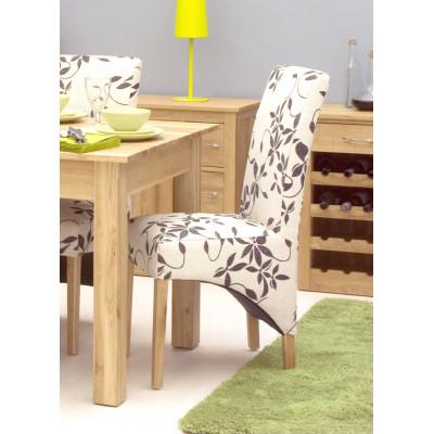 Oak Full Back Upholstered Dining Chair - Vintage Floral (Pack of Two)