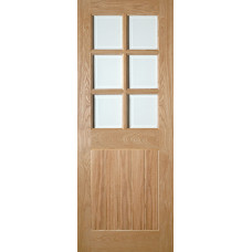 Oak Ely Bevelled 6 Light Glazed