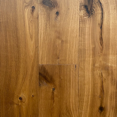 Solid French Oak Engineered Wood Flooring Smoked Hand-Scraped & Deep Filled UV Oiled
