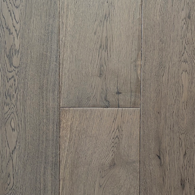 Solid Oak Double Sandwich Engineered Wood Flooring Grey UV Oiled