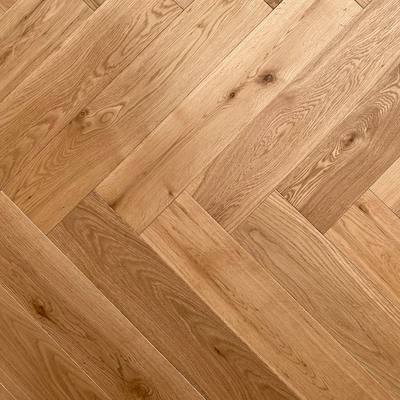 Solid Oak Engineered Herringbone Wood Flooring UV Oiled