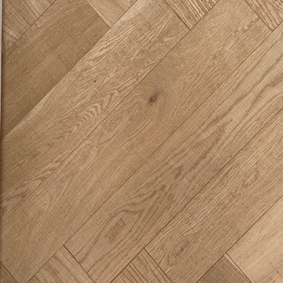 Solid Oak Engineered Herringbone Wood Flooring Pure Invisible with Bandsaw Marks