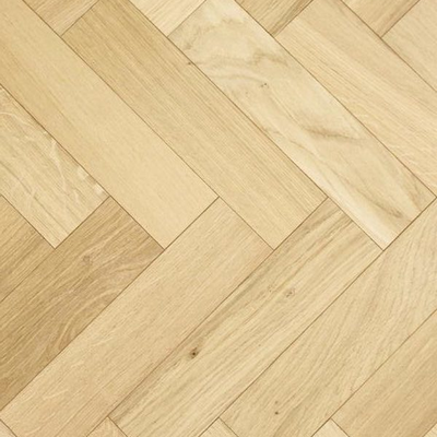 Solid Oak Engineered Herringbone Wood Flooring Unfinished
