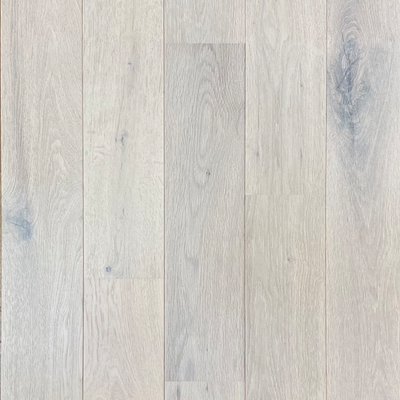 Solid Oak Engineered Wood Flooring UV Brushed White Lacquered