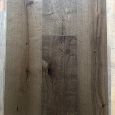 Solid Oak Engineered Wood Flooring Dark Brushed Brown UV Oiled