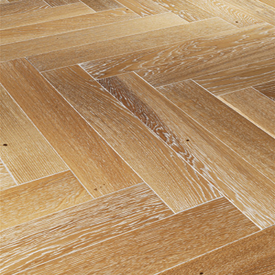 Solid Oak Engineered Wood Flooring Herringbone Limed (Clearance)