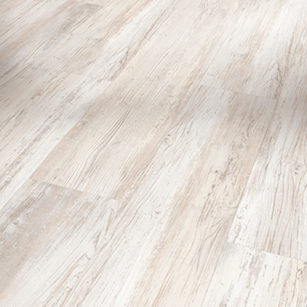 Hdf With Cork Back Pine Scandina White, White Brushed Pine Laminate Flooring
